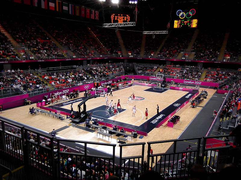London 2012 Basketball Arena during Olympics
