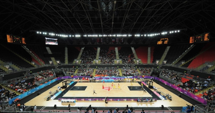 The O2 Arena in basketball mode resize